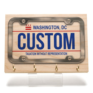 Washington DC License Plate Key Rack