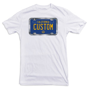 California BLUE License Plate Tee