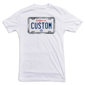 California WHITE License Plate Tee
