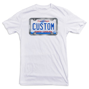 North Carolina License Plate Tee