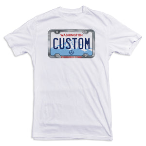 Washington License Plate Tee