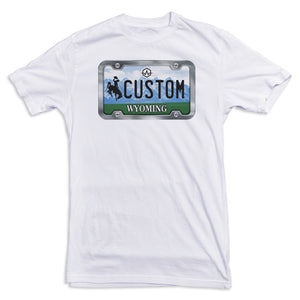 Wyoming License Plate Tee