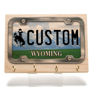 Wyoming License Plate Key Rack