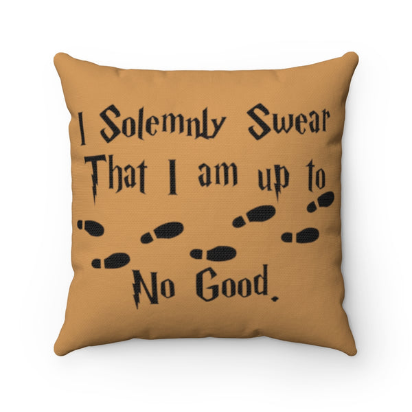 Marauder's Map Polyester Square Pillow + Pillow Case