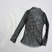 Women's Fishnet Long Sleeve Top