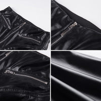 Women's Tight Fit Leather Pants