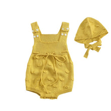 Load image into Gallery viewer, Knitted Romper with Ruffle