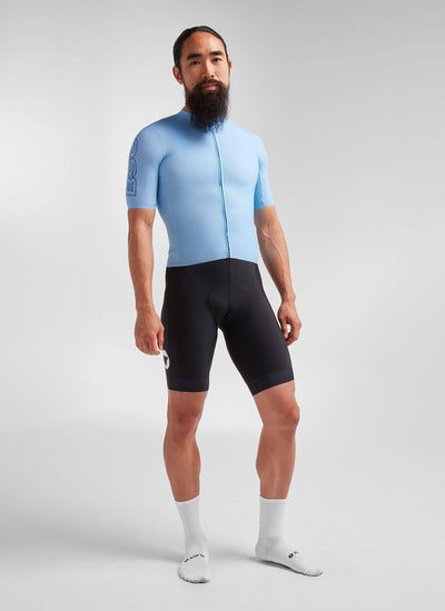 Men's Racing Climbers Jersey - Light Blue - Brickell Bikes