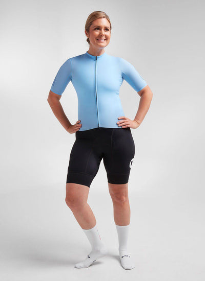 Women's WMN Climbers Jersey - Light Blue - Brickell Bikes