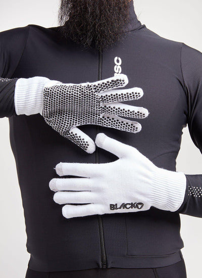 Elements Merino Glove - White - Brickell Bikes