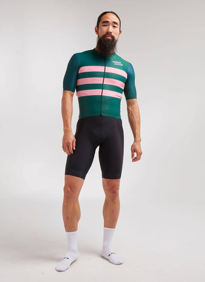 Men's LTD SS Aero Jersey - Green - Brickell Bikes