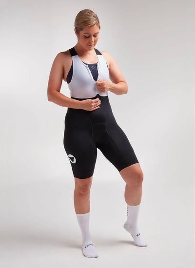Women's Body Bib - Black - Brickell Bikes