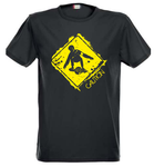Heren T-Shirt Caution