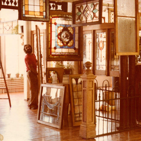 Sam at The Door Store, 1970s