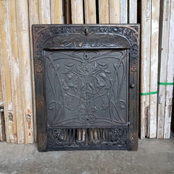 Antique Fireplace Insert (100-058)