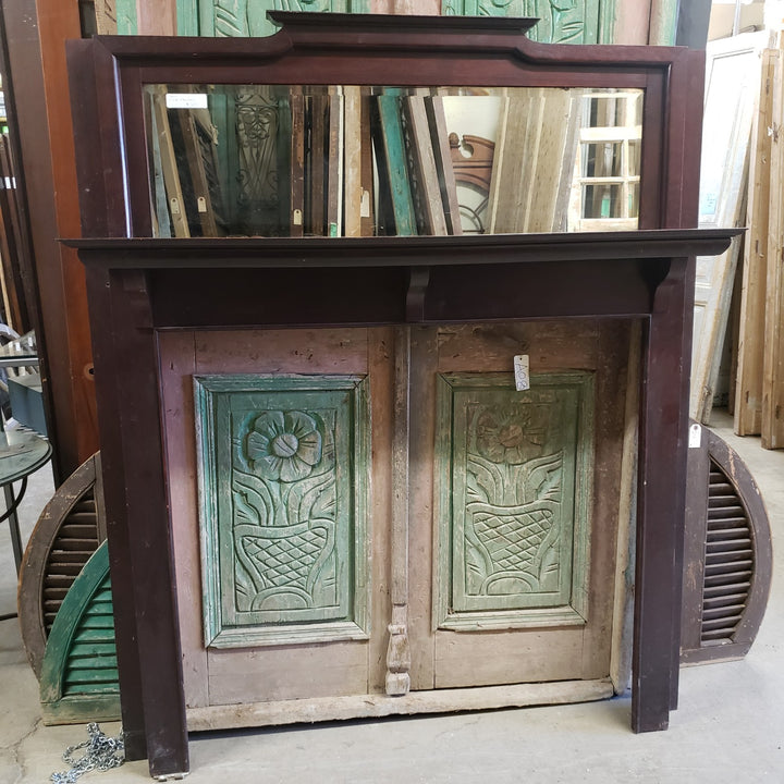Antique Fireplace Mantel (100-028)
