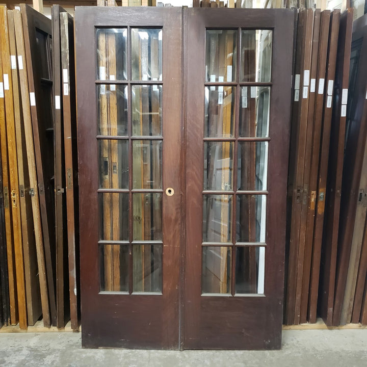 Antique Pair Doors (100-087) - 48
