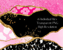Load image into Gallery viewer, Pink Eclectic Border Clipart