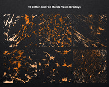 Load image into Gallery viewer, Copper Marble Veins Overlays