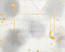 Load image into Gallery viewer, Celestial Grey Watercolour and Gold Frames