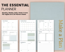 Load image into Gallery viewer, The Essentials Planner - Blue and Green Edition