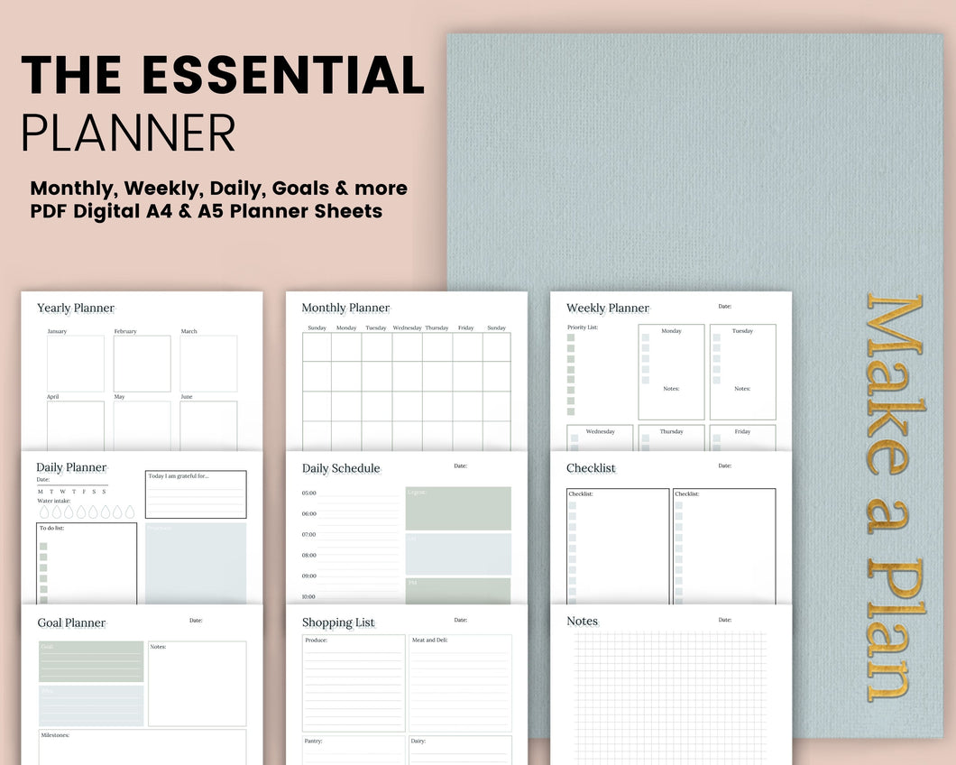 The Essentials Planner - Blue and Green Edition