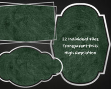 Load image into Gallery viewer, Silver and Green Chalkboard Label Clipart