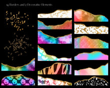 Load image into Gallery viewer, Rainbow Eclectic Border Clipart