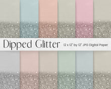 Load image into Gallery viewer, Neutral Dipped Glitter Paper