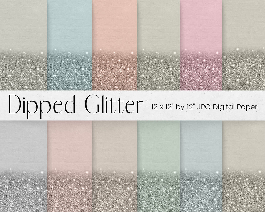 Neutral Dipped Glitter Paper