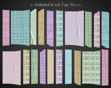 Load image into Gallery viewer, Lined Paper Washi Tape Clipart