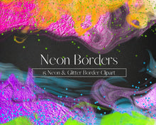 Load image into Gallery viewer, Neon Borders Clipart
