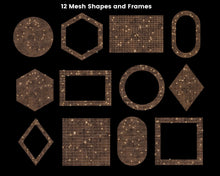 Load image into Gallery viewer, Copper Mesh Shapes Clipart