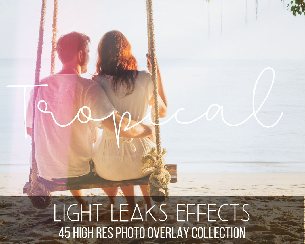 Tropical Holiday Sunlight Overlays