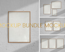 Load image into Gallery viewer, 4 Mockup Timber Frames Bundle with Shadow