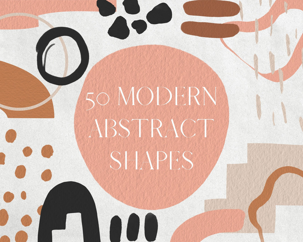 50 Terracotta and Beige Abstract Shape Clipart