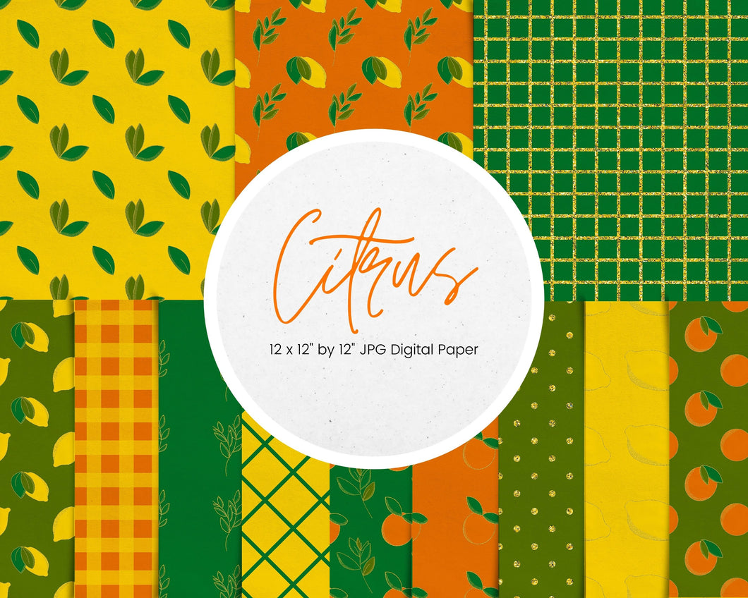 Citrus Digital Paper