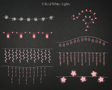 Load image into Gallery viewer, 16 Christmas Mason Jars String Lights Clipart