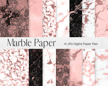 Load image into Gallery viewer, Rose Gold Marble Pattern Digital Paper