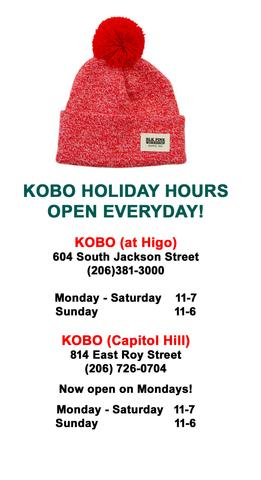 KOBO HOLIDAY HOURS 2014