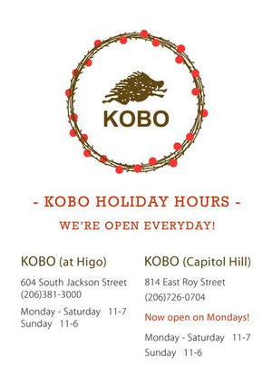 KOBO Holiday Hours