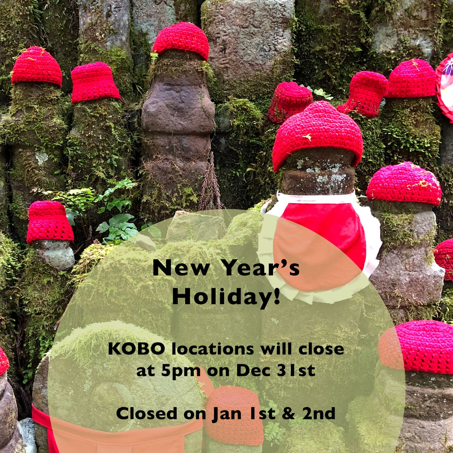KOBO New Year's Holiday Hours