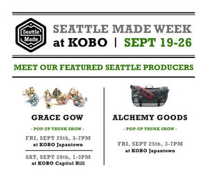 Seattle Made Events at KOBO - September 19 - 26