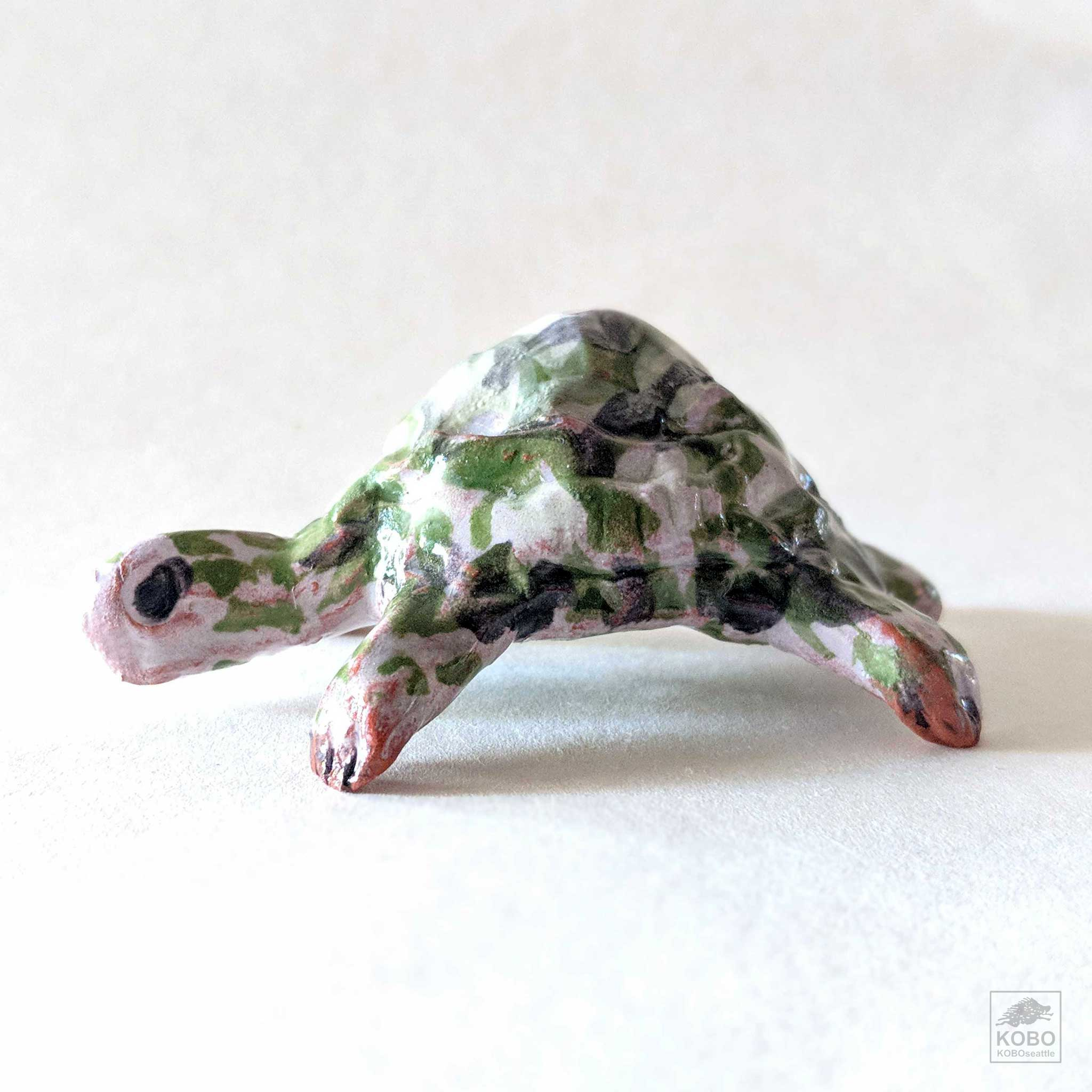 Turtle with Pink and Green Shell