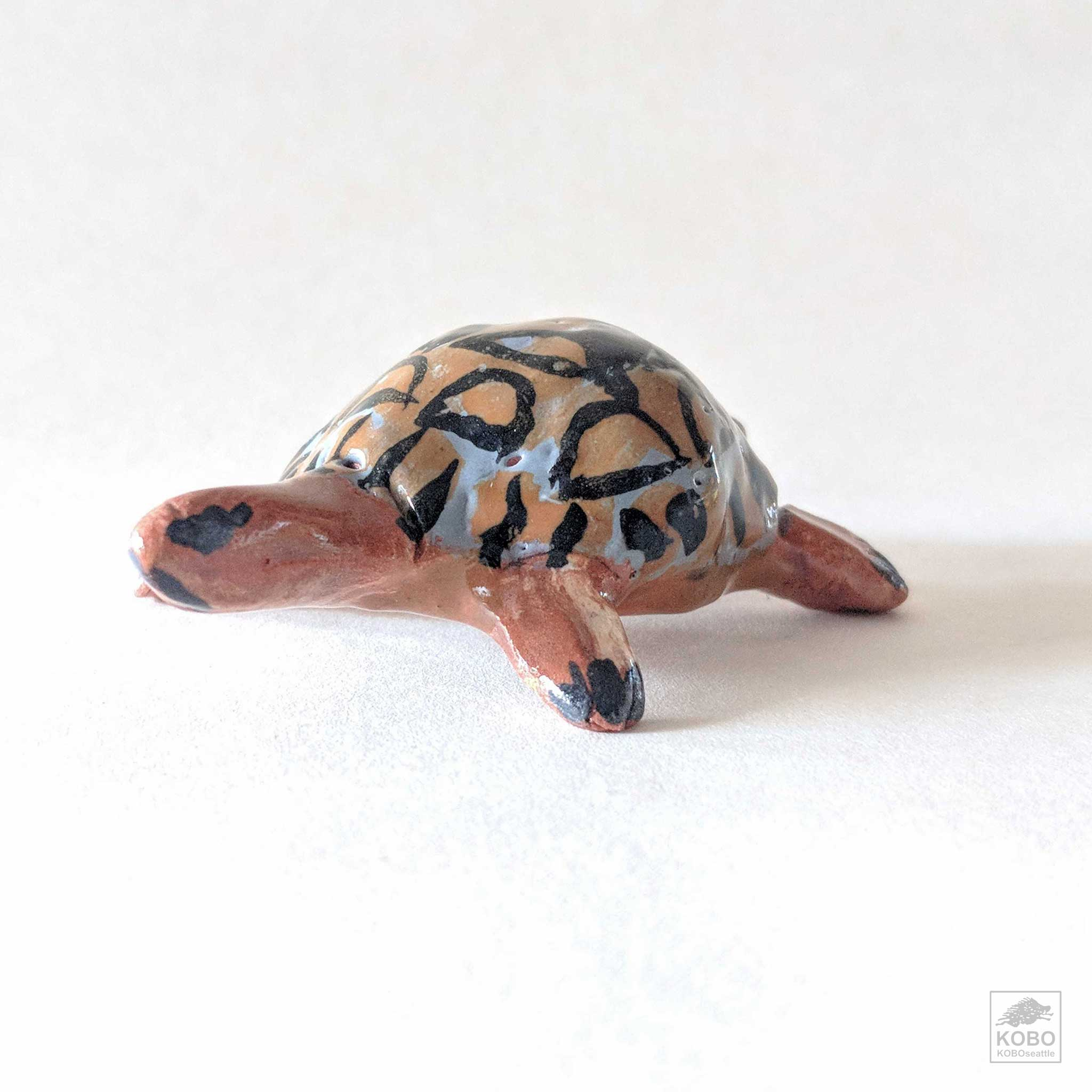 Turtle with Dark Brown and Blue