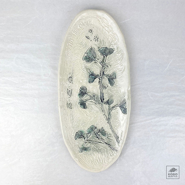 Michelle Murphy - Gingko Etched Platter