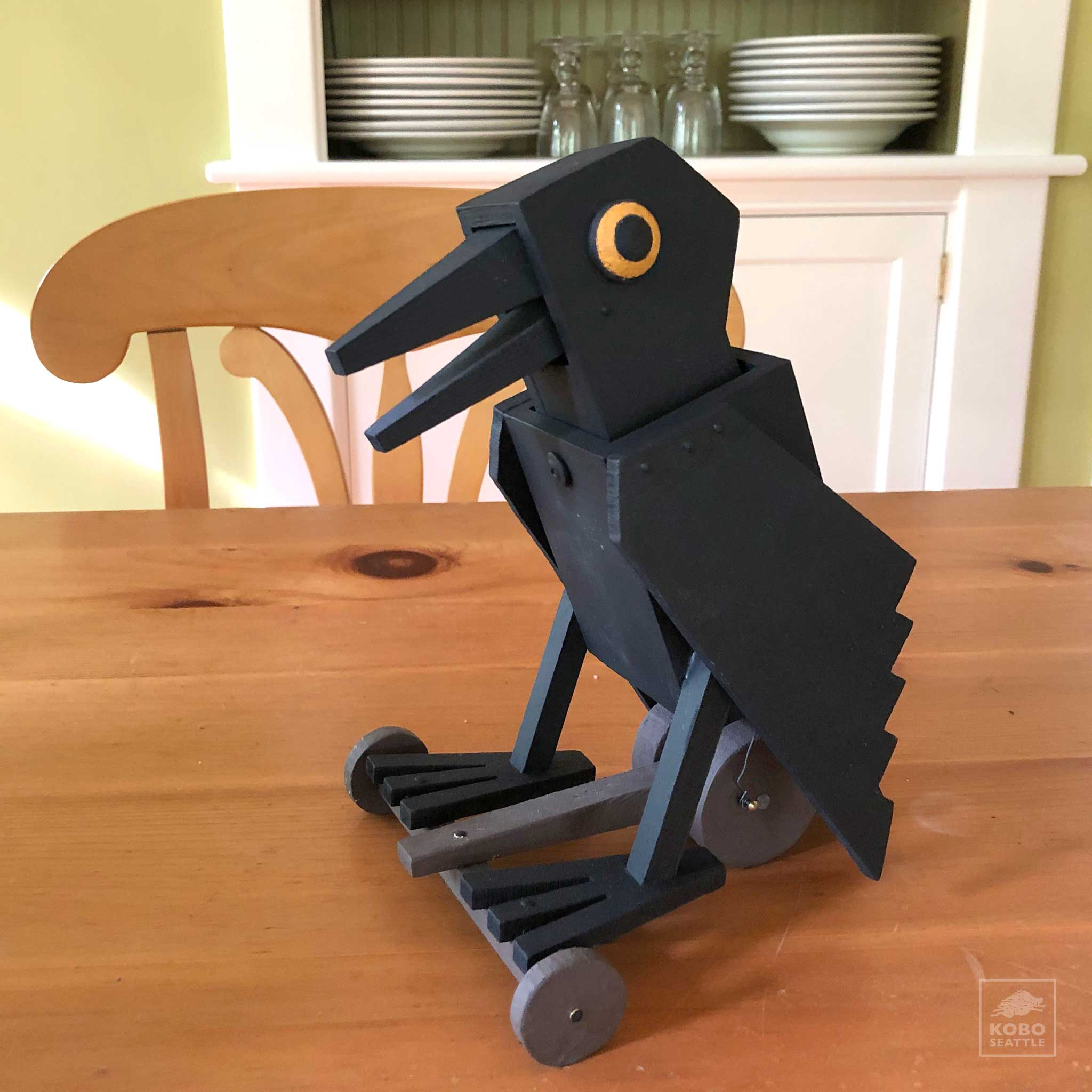 Crow Pull Toy