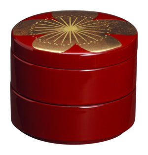 Japanese lacquer jewelry case Ume