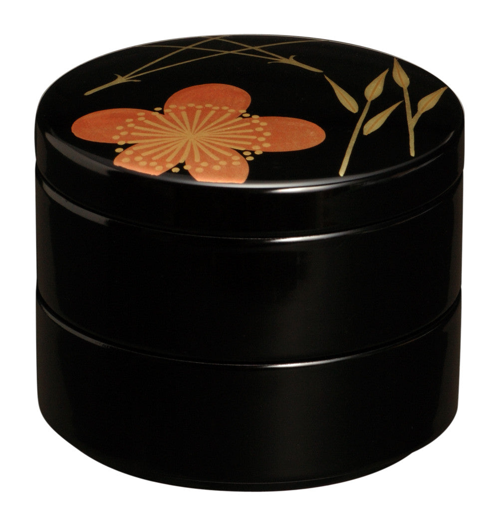 Japanese lacquer jewelry case  Shouchikubai