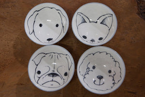 Rice Bowls - Set of 4 - Dog Portraits